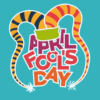 4月の愚かな日のデザイン、ベクトル図。