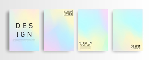 Абстрактный макет пастель красочный градиент фона формата а4 для вашего красочного графического, шаблон макета для брошюры
