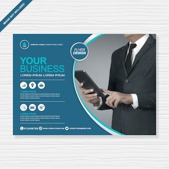 Бизнес обложка а4 флаер шаблон оформления