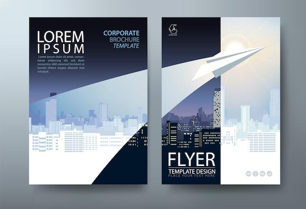 Бизнес-обложка, шаблон листовки. макет формата а4.