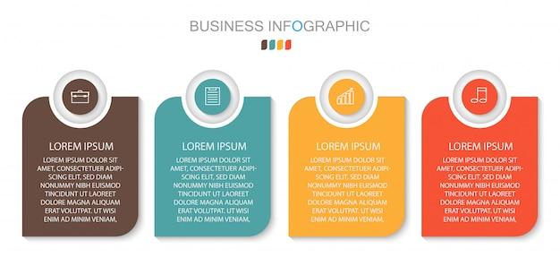 Варианты числа шаблонов круга инфографики. бизнес-концепция с 4 вариантами, шагами или процессами.
