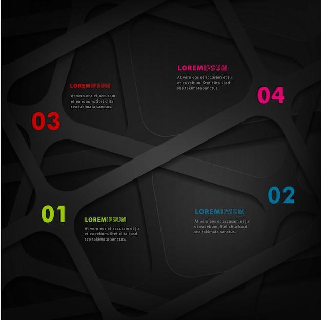 現代のビジネスのインフォグラフィックテンプレート4オプションデザイン。