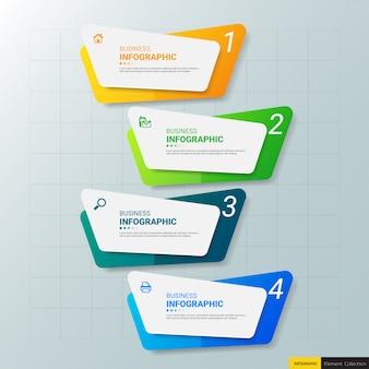4つのステップを持つビジネスインフォグラフィックテンプレート