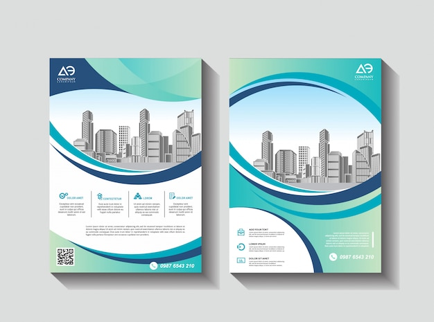 Дизайн обложки постер а4 каталог книга брошюра флаер макет годовой отчет бизнес шаблон