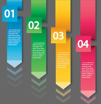 4つのオプションを持つ矢印インフォグラフィックコンセプトテンプレート