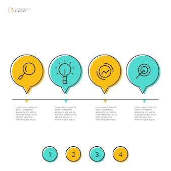 4オプションのインフォグラフィックデザイン