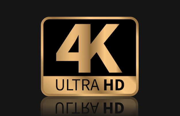 4k ultra hd sign vector.