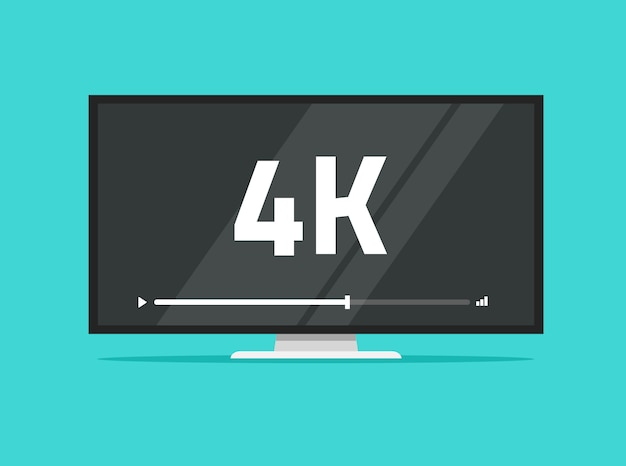 Телевизор с плоским экраном со светодиодной технологией 4k ultra hd