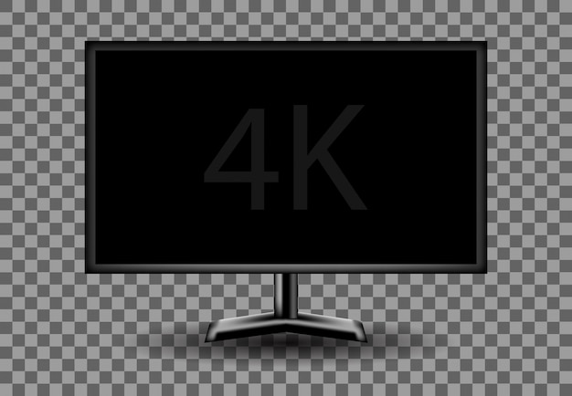4kモニターの空の空白の白、画面の図