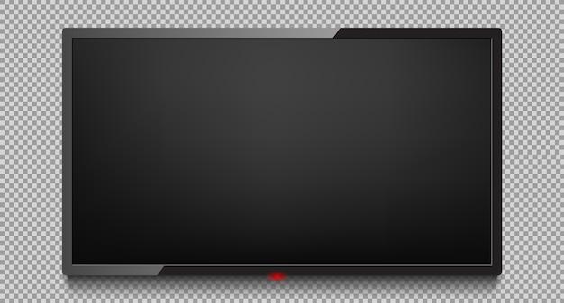 4k экран телевизора вектор. жк или светодиодный экран телевизора