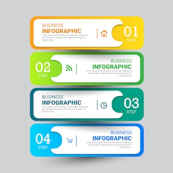 4steps infographics template