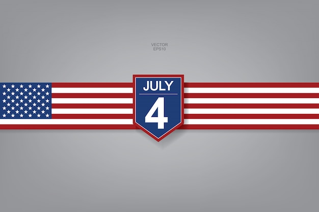 4th of july - abstract background sign and symbol for usa.
