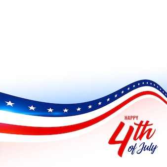4th of july american flag style background