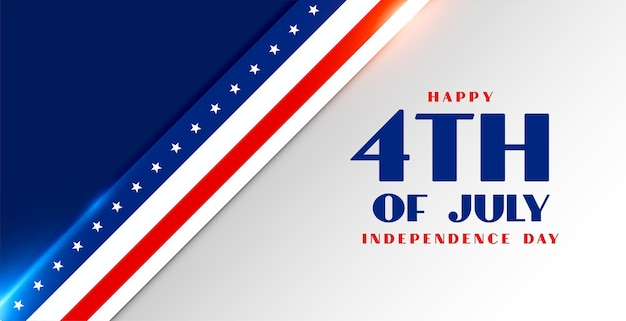 4th of july american independence day flag style banner