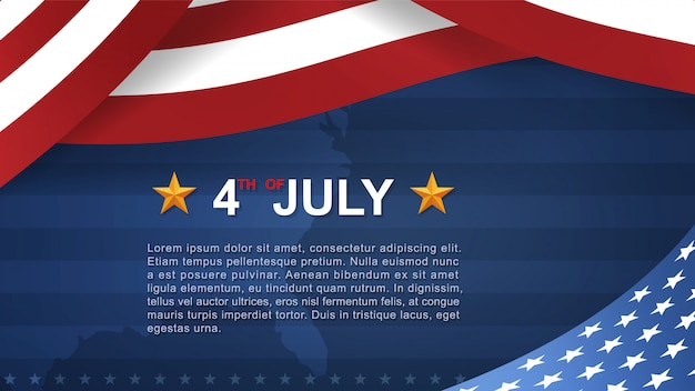 4th of july background for usa independence day.