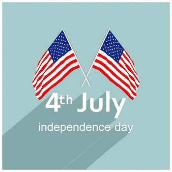 4th july background with 2 flags