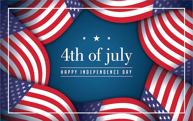 4th july background with american elements