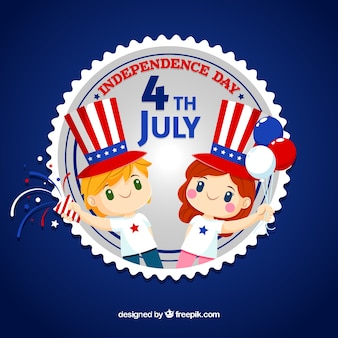 4 luglio sfondo con elementi americani