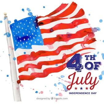 4 luglio sfondo con bandiera americana