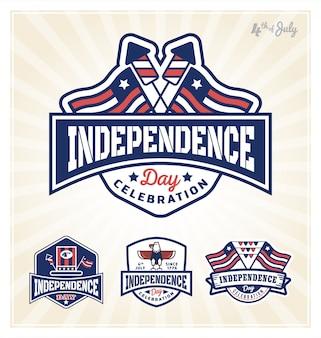 4th of july badge design