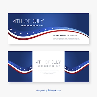 4th of july banners with american flag