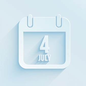 4th of july calendar