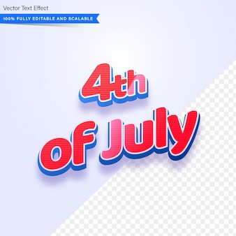 4th of july editable text effect