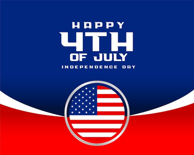 4th of july happy independence day flag background