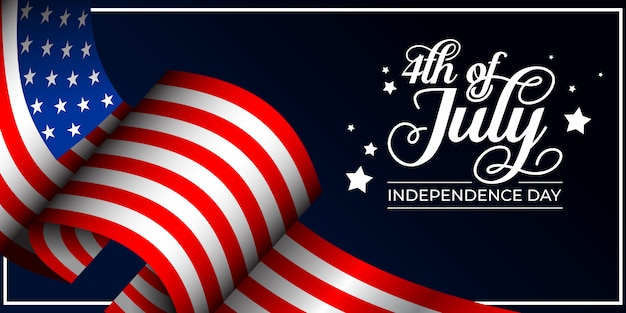 4th of july independence day background illustration