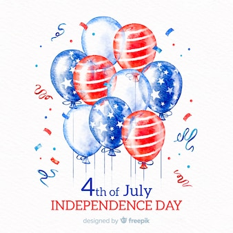 4th of july - independence day background with balloons