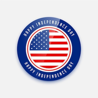 4th of july independence day badge design