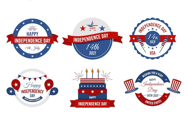 4th of july independence day badges