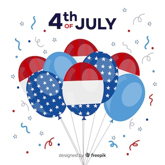 4th of july - independence day balloon background