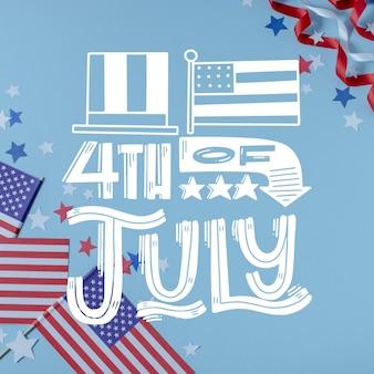 Concetto di festa dell'indipendenza del 4 luglio