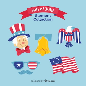4th of july - independence day element collection