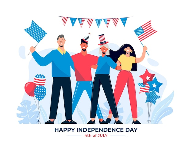 4th of july - independence day illustration