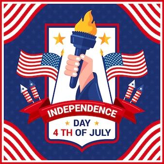 4 luglio - illustrazione del giorno dell'indipendenza