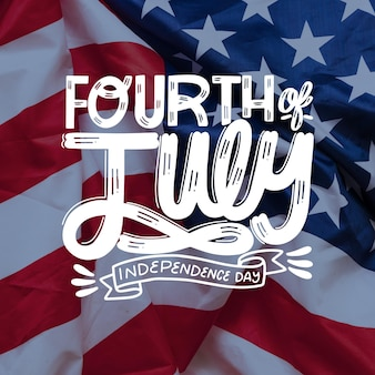 4th of july- independence day lettering
