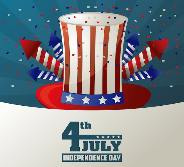 4th july independence day top hat
