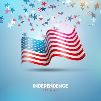 4th of july independence day of the usa illustration