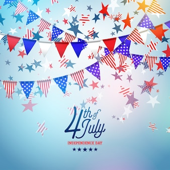 4th of july independence day of the usa vector illustration