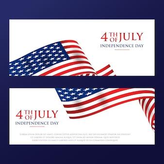 День независимости 4 июля с американским флагом