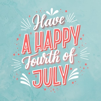 4th of july lettering with photo