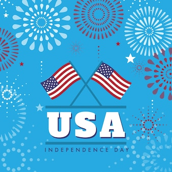 4th july united states independence day background design
