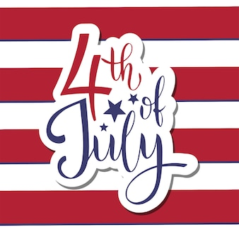 4th of july. usa independence day. elements for invitations, posters, greeting cards. t-shirt design
