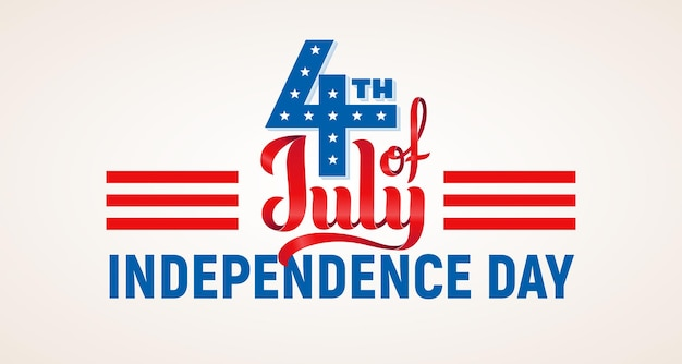 4th of july. usa independence day lettering