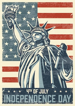 4 luglio poster vintage
