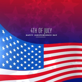 4th of july wavy flag background