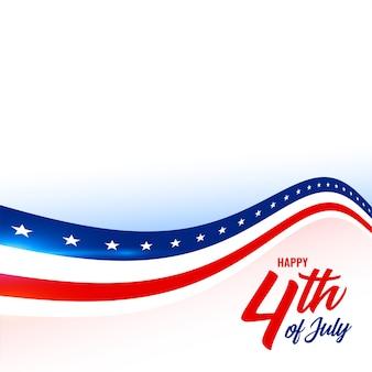 7 월 미국 국기 스타일 배경의 4