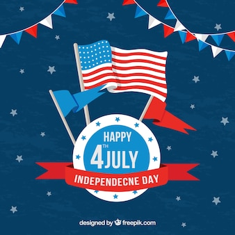 Th Of July Background With American Elements